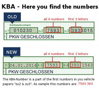 So finden Sie Ihre KBA-Nummer